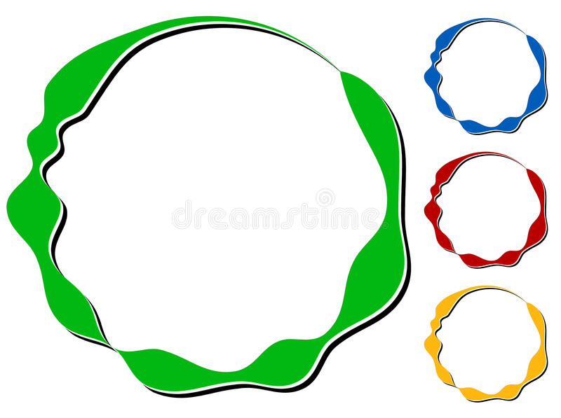 Download Объезжайте элемент дизайна с Knockout тенью в 4 цветах Иллюстрация вектора - иллюстрации насчитывающей цветы, иллюстрация: 81805974