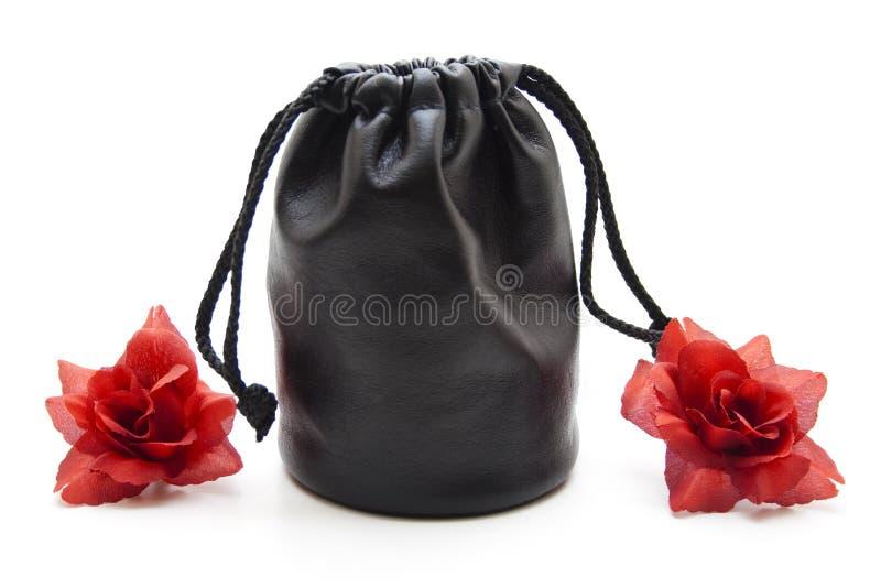 Объективно положите в мешки с розами стоковое фото