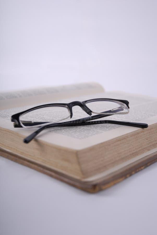 объективы книги раскрывают стоковое изображение rf