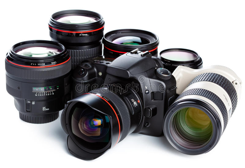 объективы фотоаппарата стоковая фотография rf