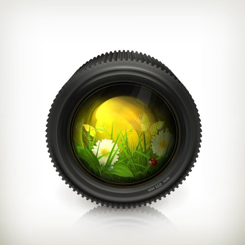 объектив иконы иллюстрация вектора