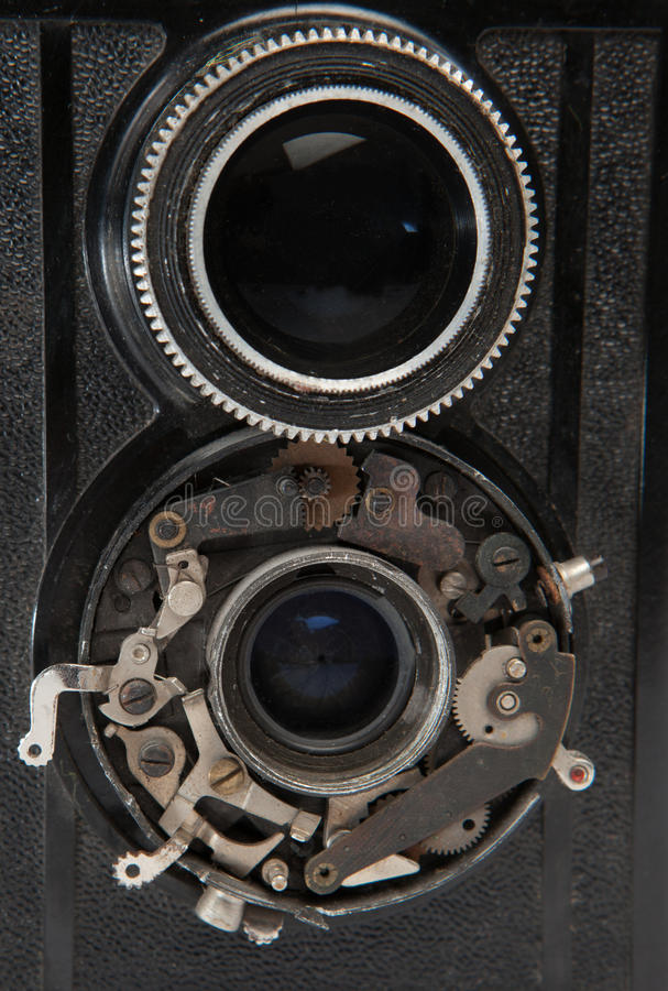 Объектив 2 старого винтажного крупного плана камеры стоковые фотографии rf