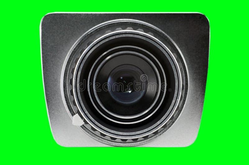 Объектив старой камеры на изолированной предпосылке Photocamera стоковые изображения rf