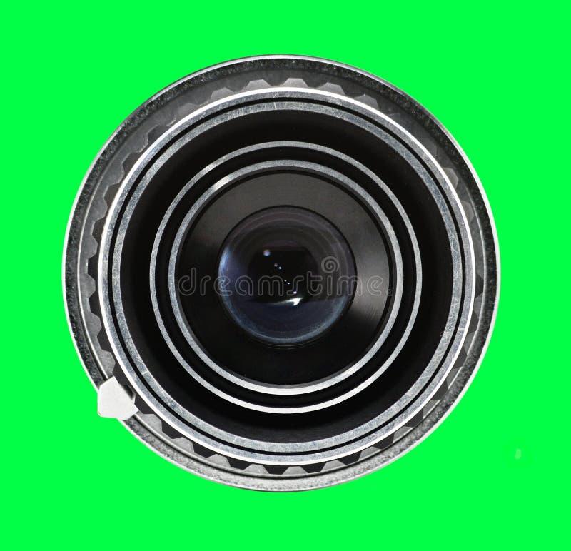 Объектив старой камеры на изолированной предпосылке Photocamera стоковое фото rf