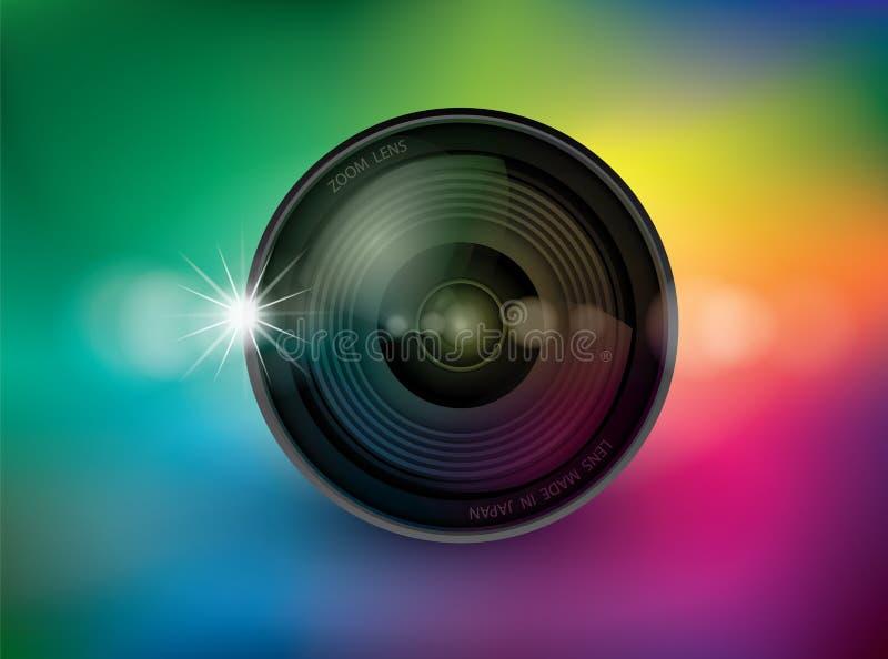 Объектив фотоаппарата, вектор 10 иллюстрации иллюстрация вектора