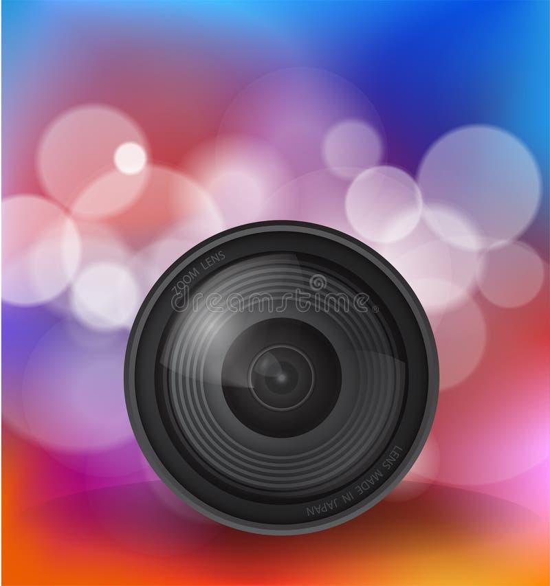 Объектив фотоаппарата, вектор 10 иллюстрации иллюстрация штока