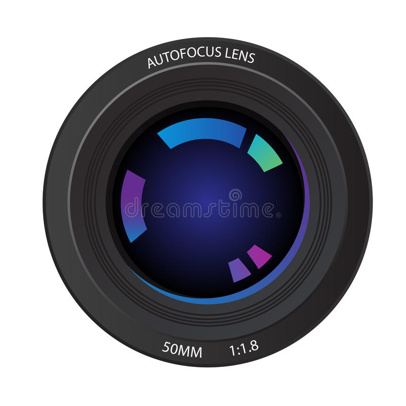 объектив фотоаппарата иллюстрация штока
