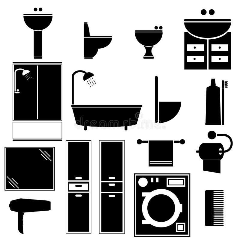 Объекты ванной комнаты стоковое изображение rf