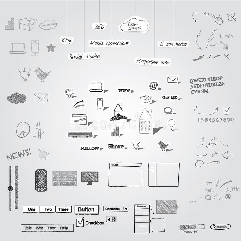 Объекты нарисованные рукой бесплатная иллюстрация