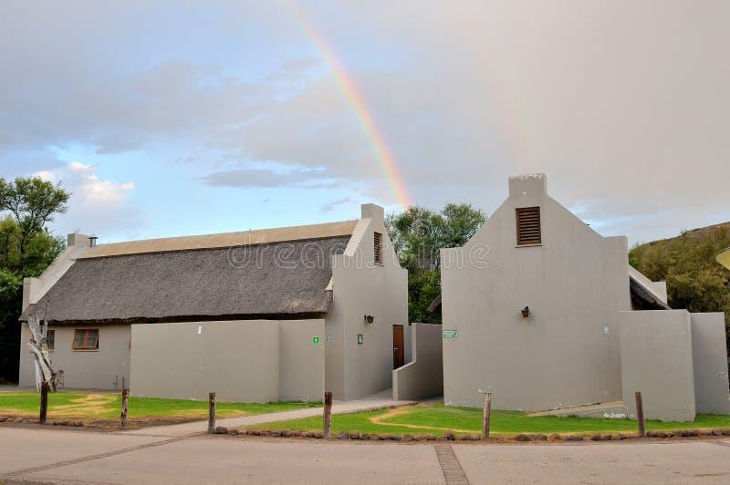Объекты омовения на месте для лагеря в национальном парке Karoo стоковое фото rf