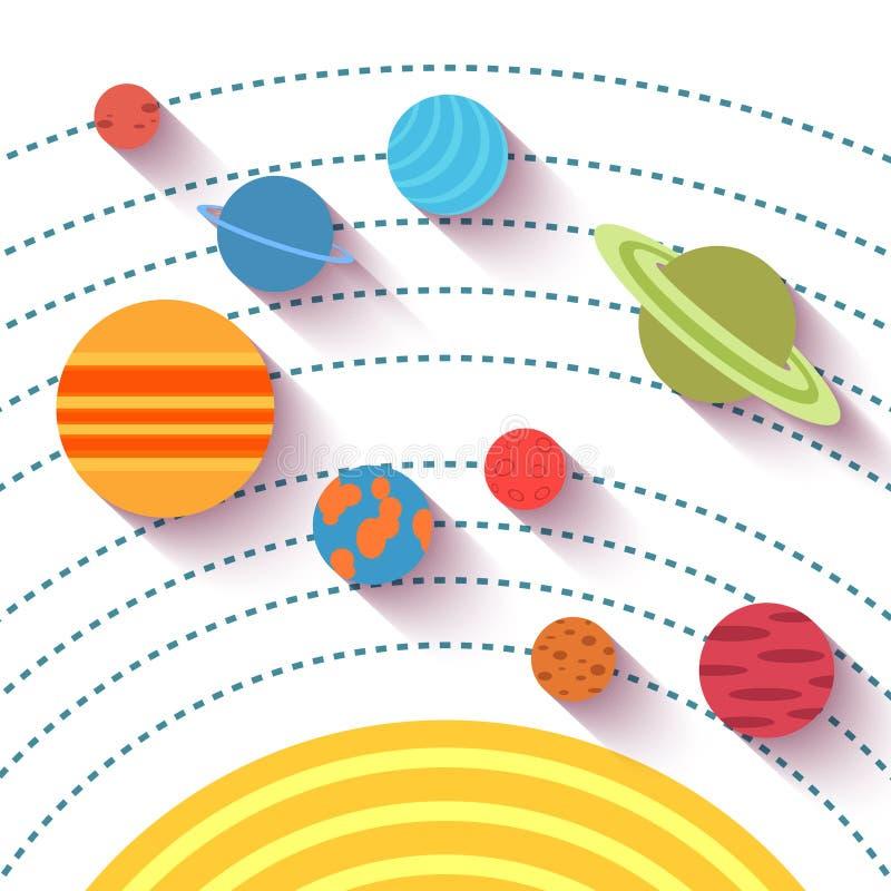 Объекты солнечной системы и космоса Вектор установленный в квартиру иллюстрация штока