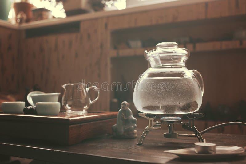 Объекты для церемонии чая стоковые изображения
