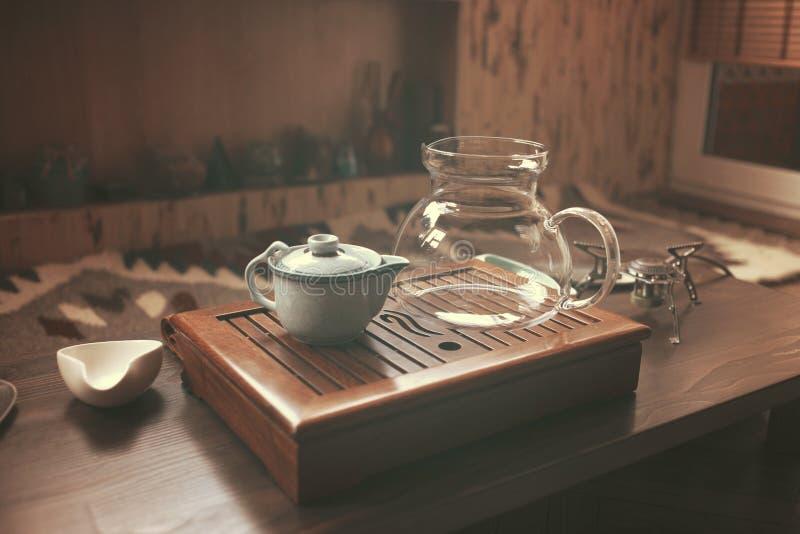 Объекты для церемонии чая стоковое изображение rf