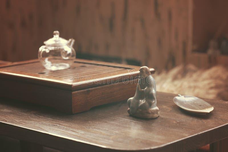 Объекты для церемонии чая стоковые изображения rf
