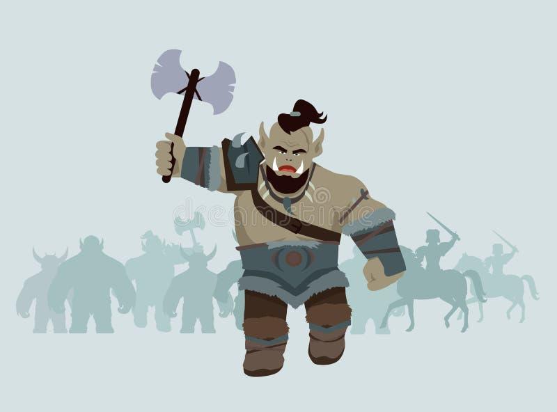 Объект игры Orc иллюстрация штока