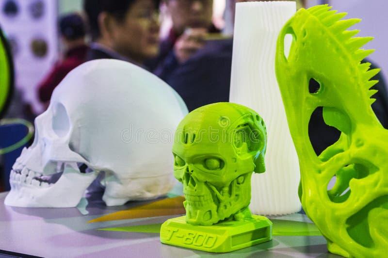 Объект напечатанный на принтере 3D стоковые фото
