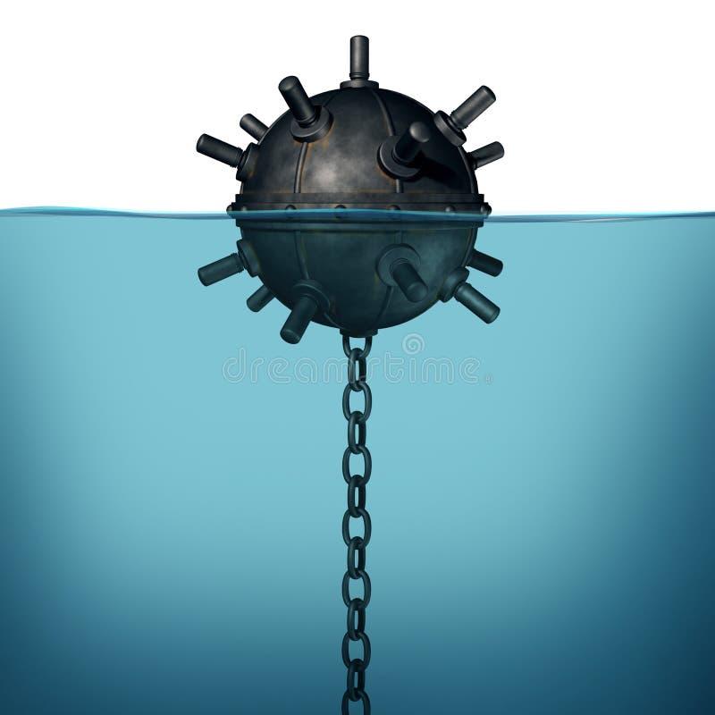 Объект опасности шахты моря бесплатная иллюстрация