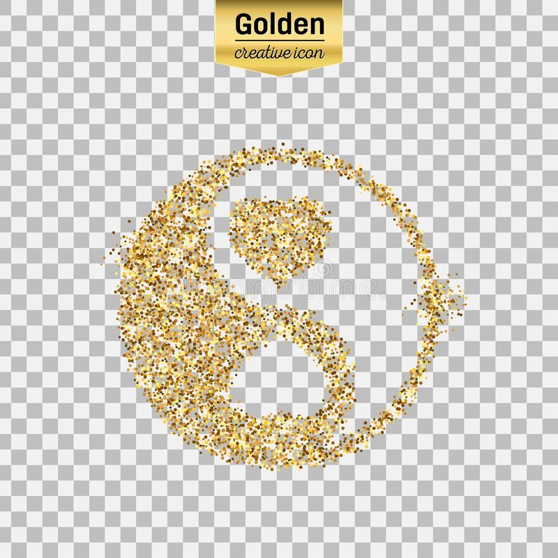 Объект яркого блеска золота иллюстрация вектора