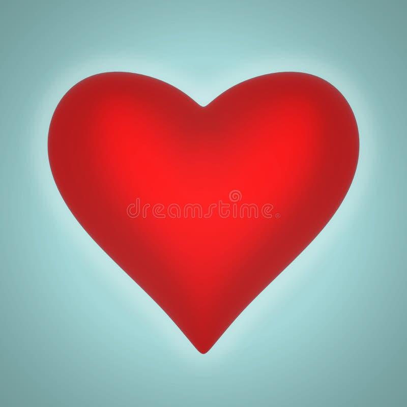 Объемная лоснистая форма сердца иллюстрация вектора