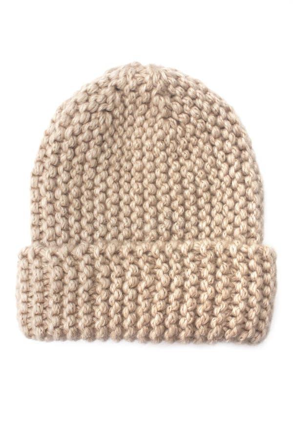 Объемная связанная шляпа стоковое фото