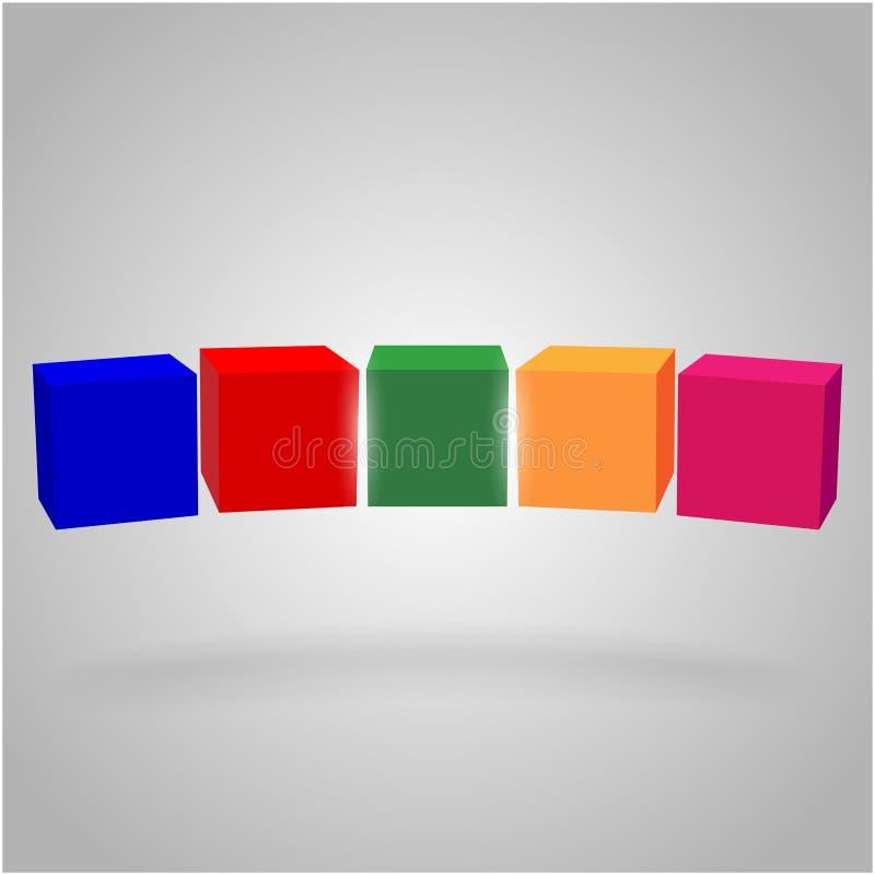 Объемные кубы в воздухе стоковое фото