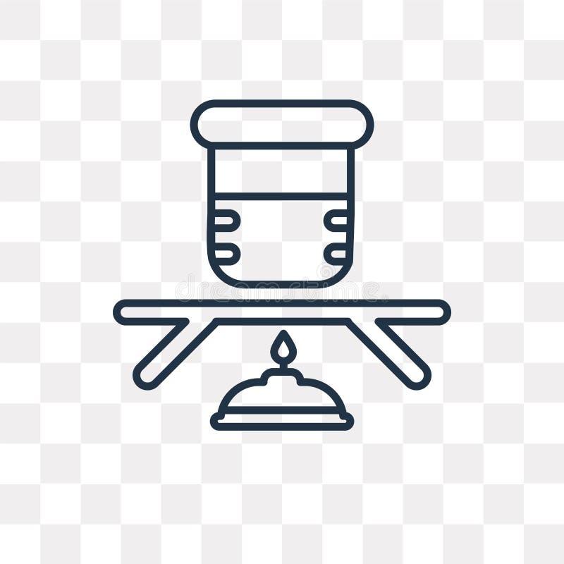 Объемный значок вектора изолированный на прозрачной предпосылке, linea иллюстрация штока