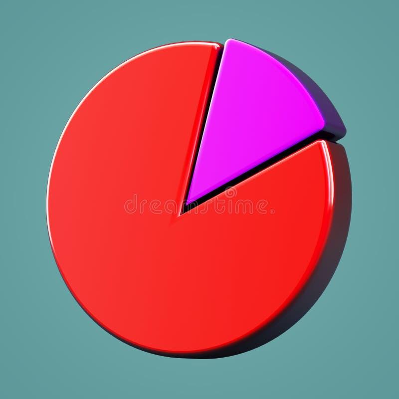 Объемный значок долевой диограммы стоковые фото