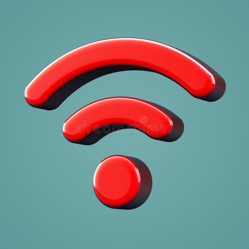 Объемный значок wi fi стоковое изображение