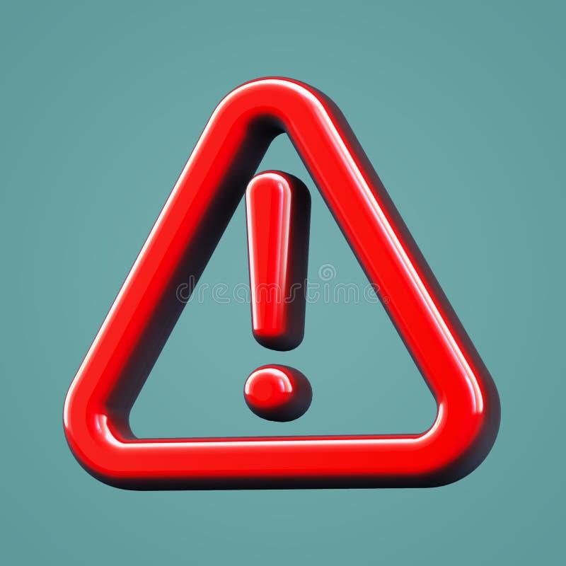 Объемный предупреждающий значок Восклицательный знак стоковое фото
