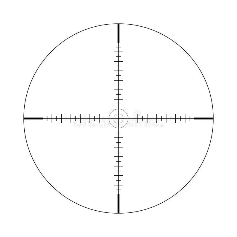 Объем снайпера, масштаб Перекрестия с метками тикания икона Концепция вектора поиска цели Элемент изолированный на светлой предпо бесплатная иллюстрация