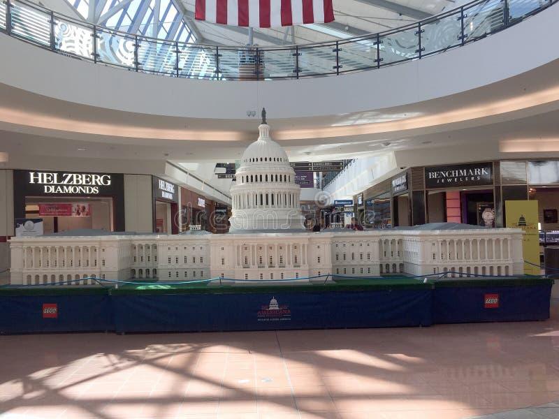 Объединенное строение здания капитолия положения с Lego стоковые фотографии rf