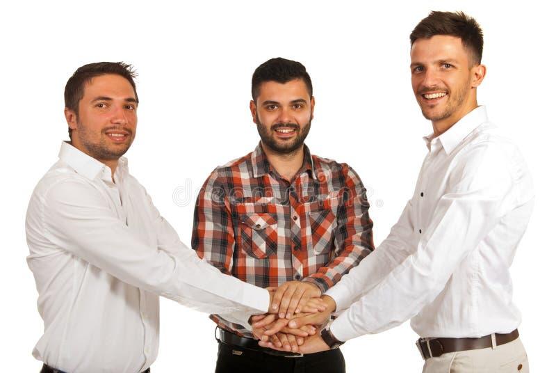 Объединенные вскользь бизнесмены стоковые фото