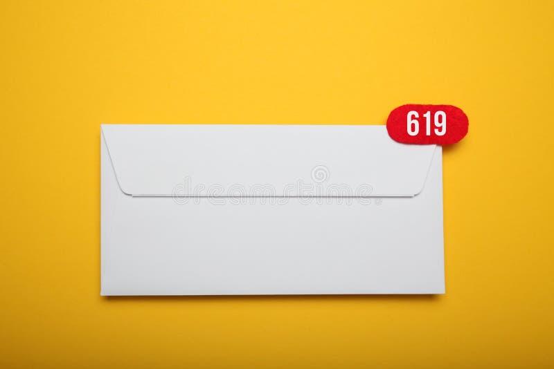 Объявление, болтовня связи адреса Корреспонденция почты контакта Полученное сообщение стоковые фотографии rf
