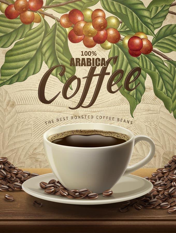 Объявления кофе Arabica иллюстрация вектора