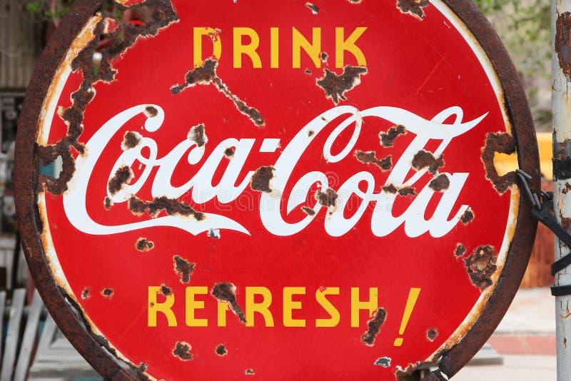 Объявление кока-колы стоковая фотография rf