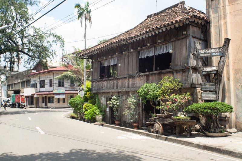 Обычная жизнь филиппинцев в городе Филиппинах Cebu стоковые фото