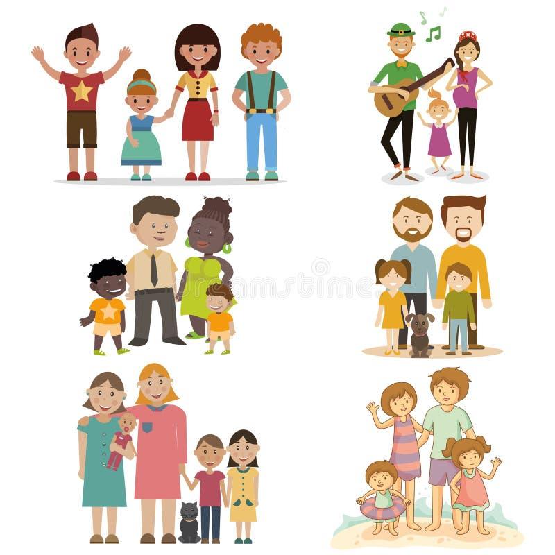 Обычная семья комплекта бесплатная иллюстрация