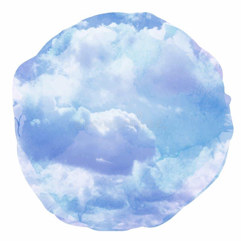 Облака акварели и предпосылка неба бесплатная иллюстрация
