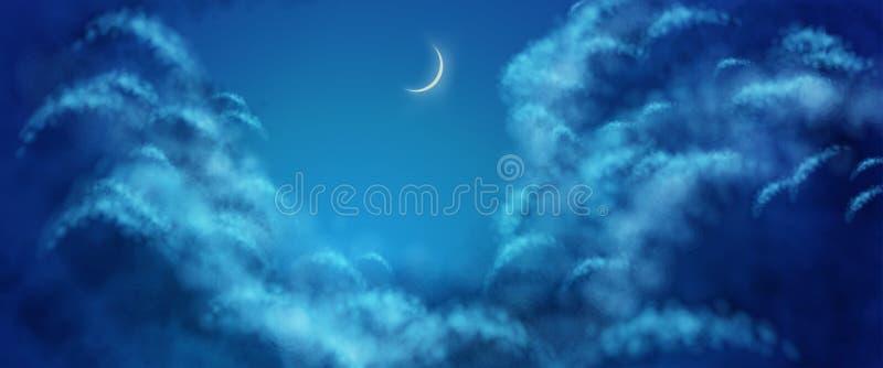 Облака вектора еженощно иллюстрация штока