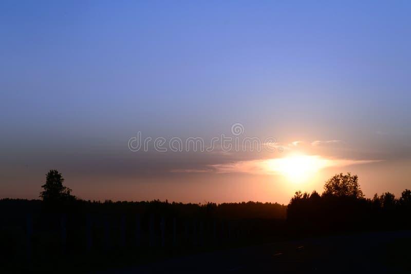 Облака в форме птицы на заходе солнца стоковая фотография