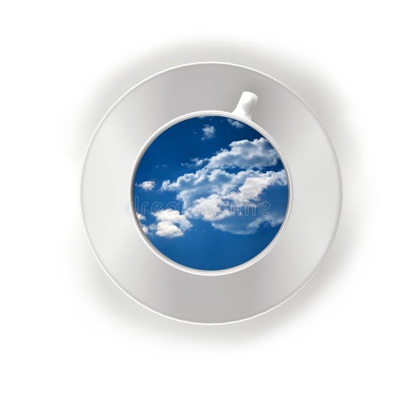 Облака в чашке чаю бесплатная иллюстрация