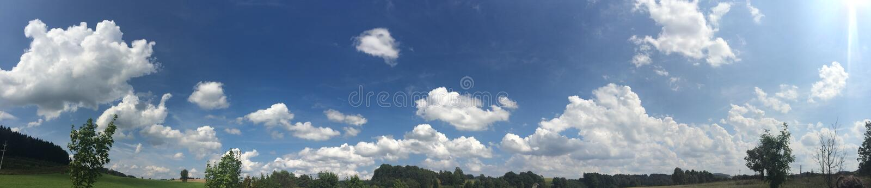Облака в чехии стоковое изображение rf