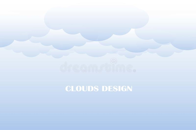 Облака конструируют предпосылку, голубые облака градиента на голубом небе иллюстрация штока