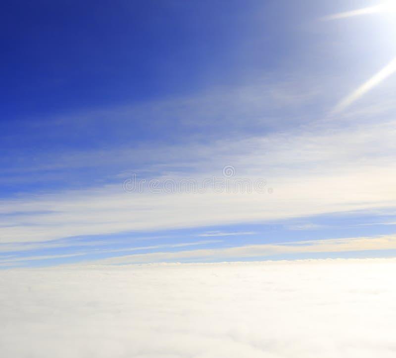 Облака на большой возвышенности стоковая фотография rf