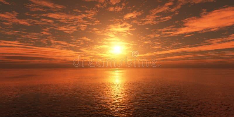 Облака над морем на заходе солнца бесплатная иллюстрация