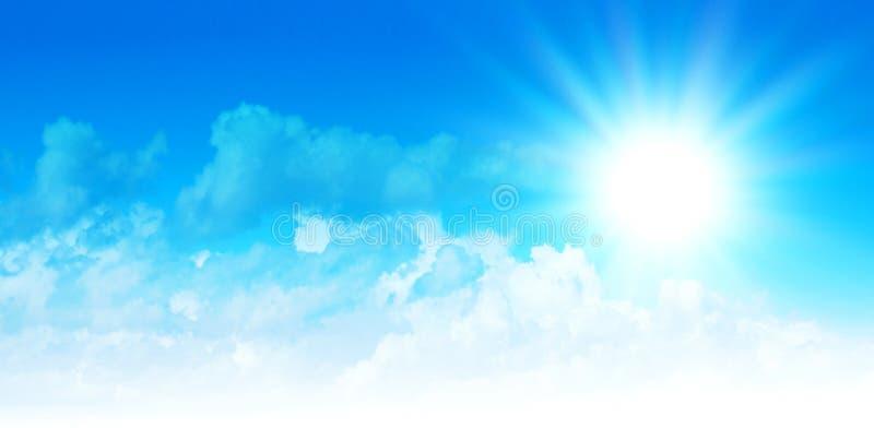 Облака на небе иллюстрация вектора