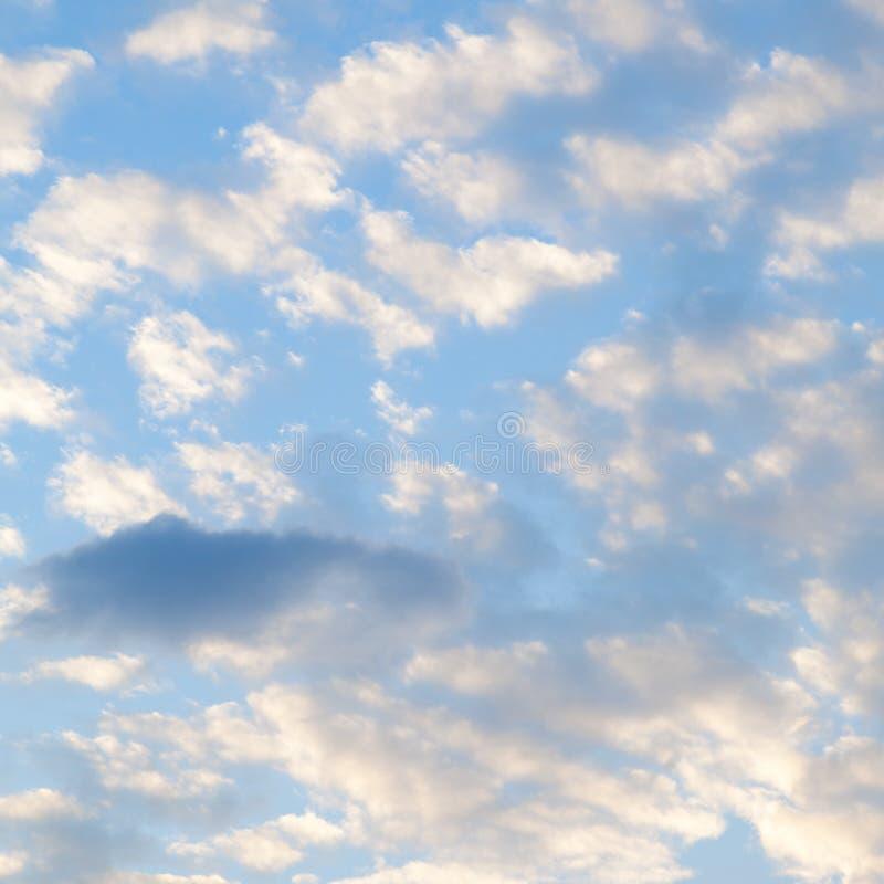 Облака покрыли небо в утре стоковое изображение rf