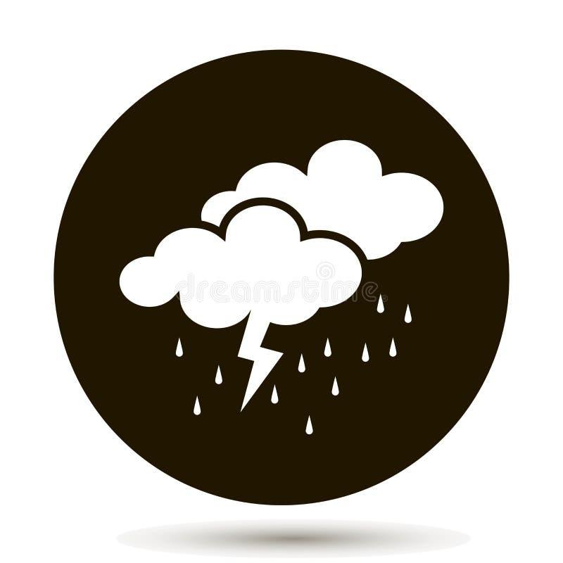 Облака прогноза погоды дождя и грома иллюстрация вектора