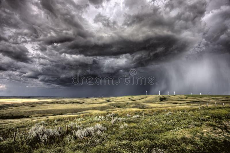 Облака шторма Саскачеван стоковая фотография rf