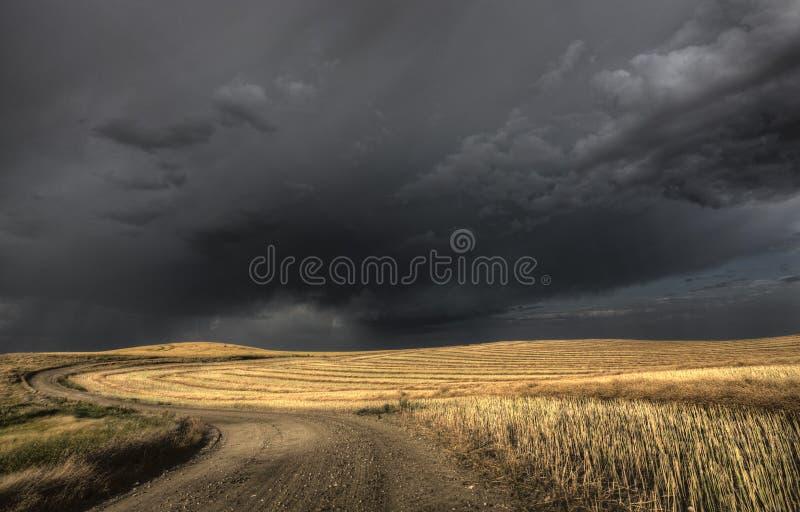 Облака шторма Саскачеван стоковая фотография
